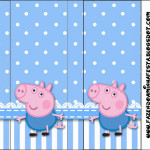 Rótulo Pirulito Mastigável  George Pig (Peppa Pig):