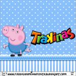 Rótulo Mini Trakinas  George Pig (Peppa Pig):