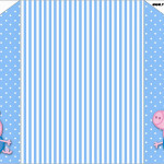 Convite Envelope George Pig (Peppa Pig):