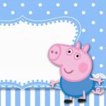 Convite Ingresso George Pig (Peppa Pig):