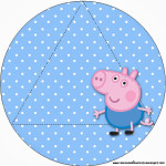 Convite Triangular Transpassado George Pig (Peppa Pig):