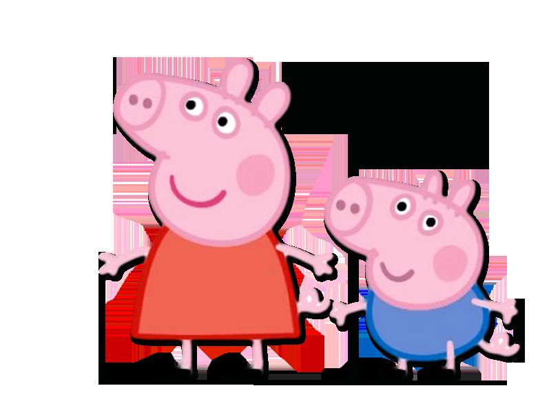 Personagem Vivo Mascote Fantasia KIT PEPPA PIG E GEORGE PIG