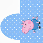 Rótulo Pipoca  George Pig (Peppa Pig):