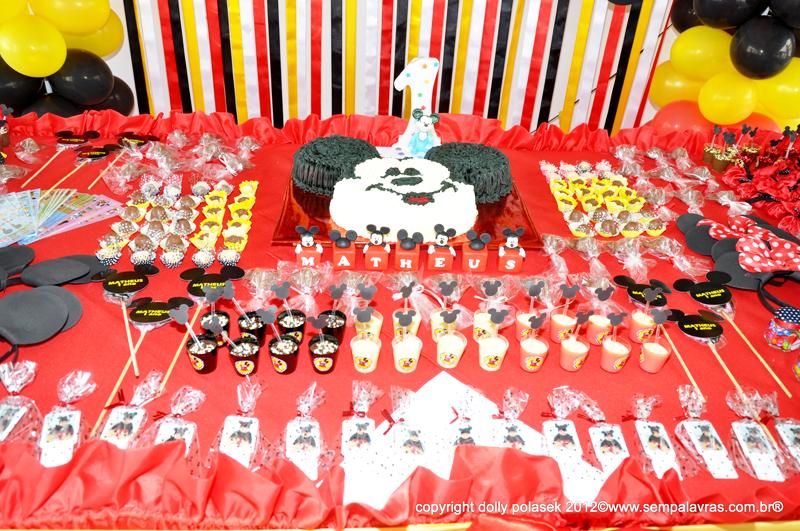 Mesa de Doces Festa Mickey Mouse: