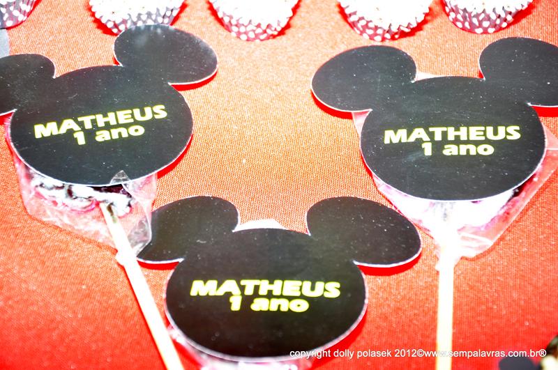 Pirulitos Festa Mickey Mouse: