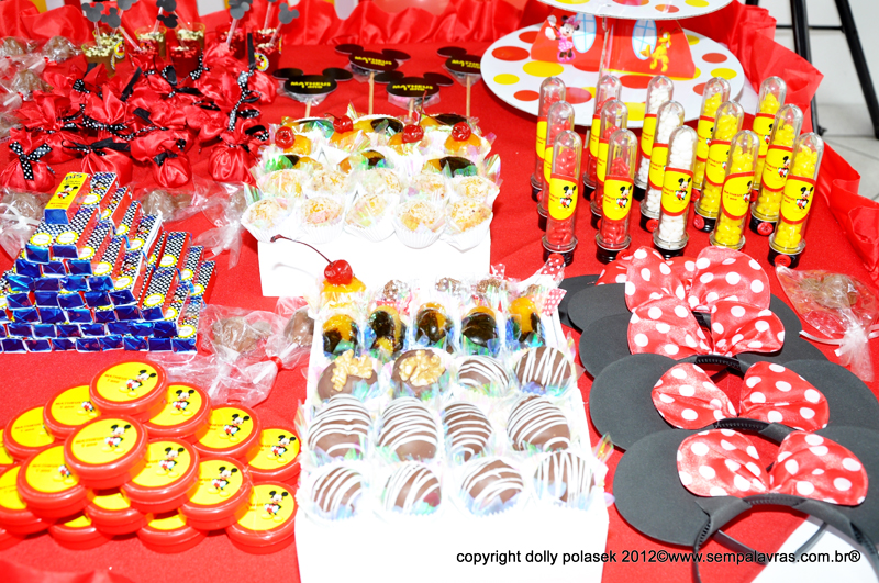 Doces Festa Mickey Mouse: