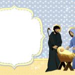 Nascimento Menino Jesus (Natal) – Kit Completo com molduras para convites, rótulos para guloseimas, lembrancinhas e imagens!