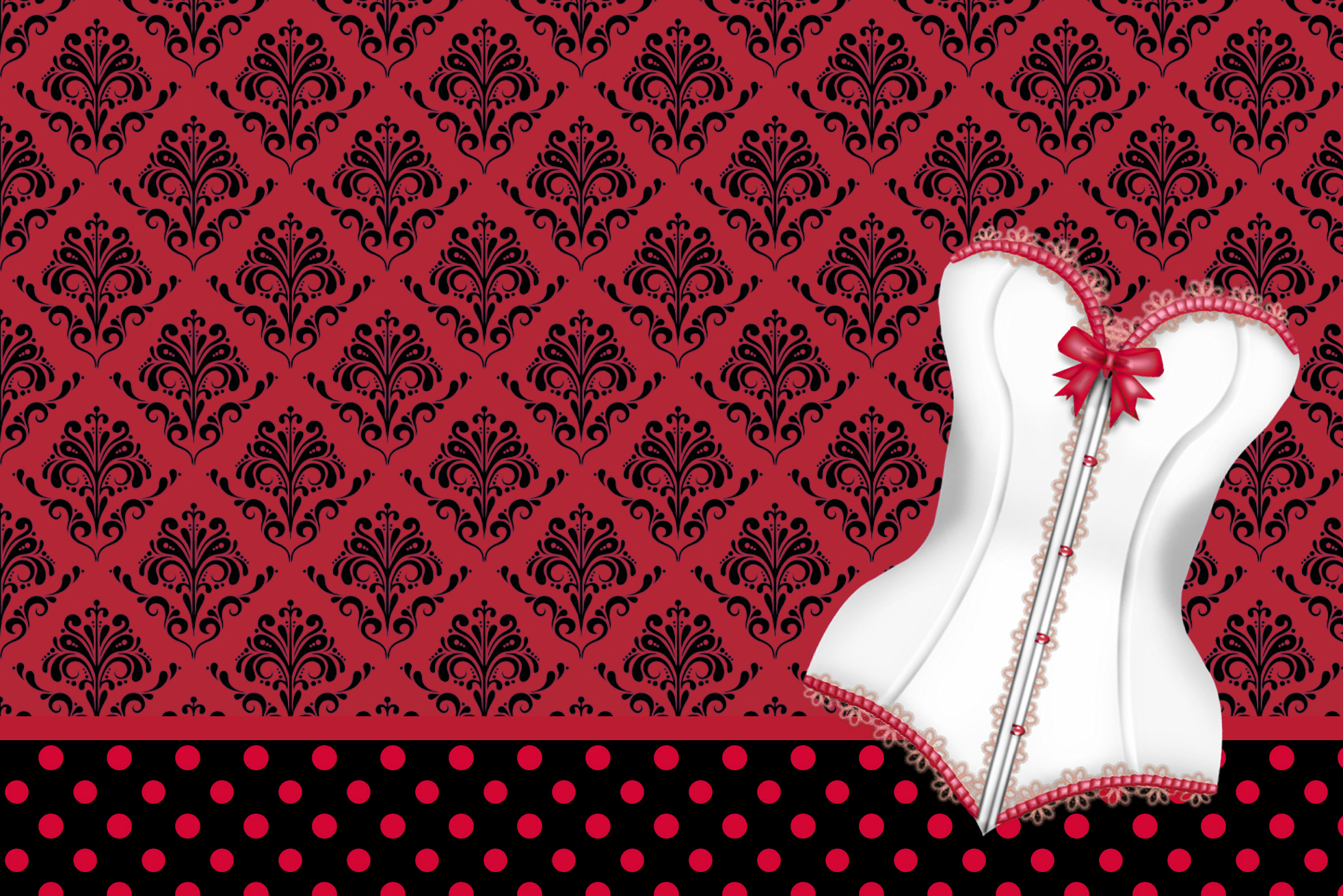 Minnie Vermelha – Kit Completo de molduras para convites