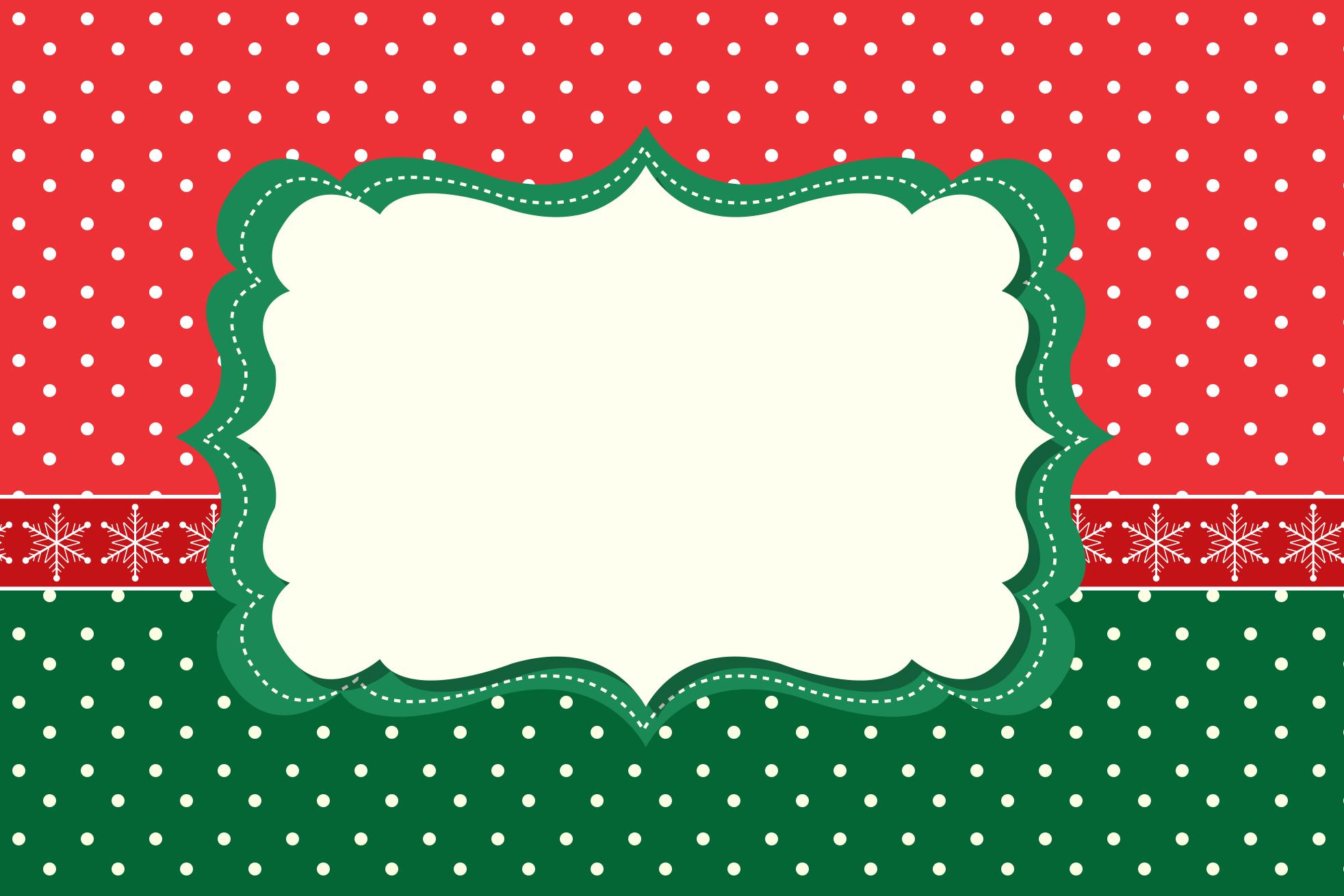 Convite Moldura e Cartão Fundo Poá Verde e Vermelho: