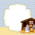 Moldura Convite e Cartão Nascimento de Jesus: