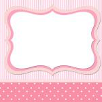 Listras e Poá  Rosa – Kit Completo com molduras para convites, rótulos para guloseimas, lembrancinhas e imagens!