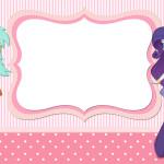Moldura Convite e Cartão Equestria Girls (My Little Pony):