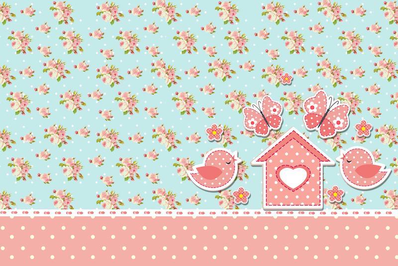 festa jardim convite:Jardim Encantado Vintage Floral – Kit Completo com molduras para