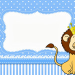 Leão Rei Fofo – Kit Completo com molduras para convites, rótulos para guloseimas, lembrancinhas e imagens!