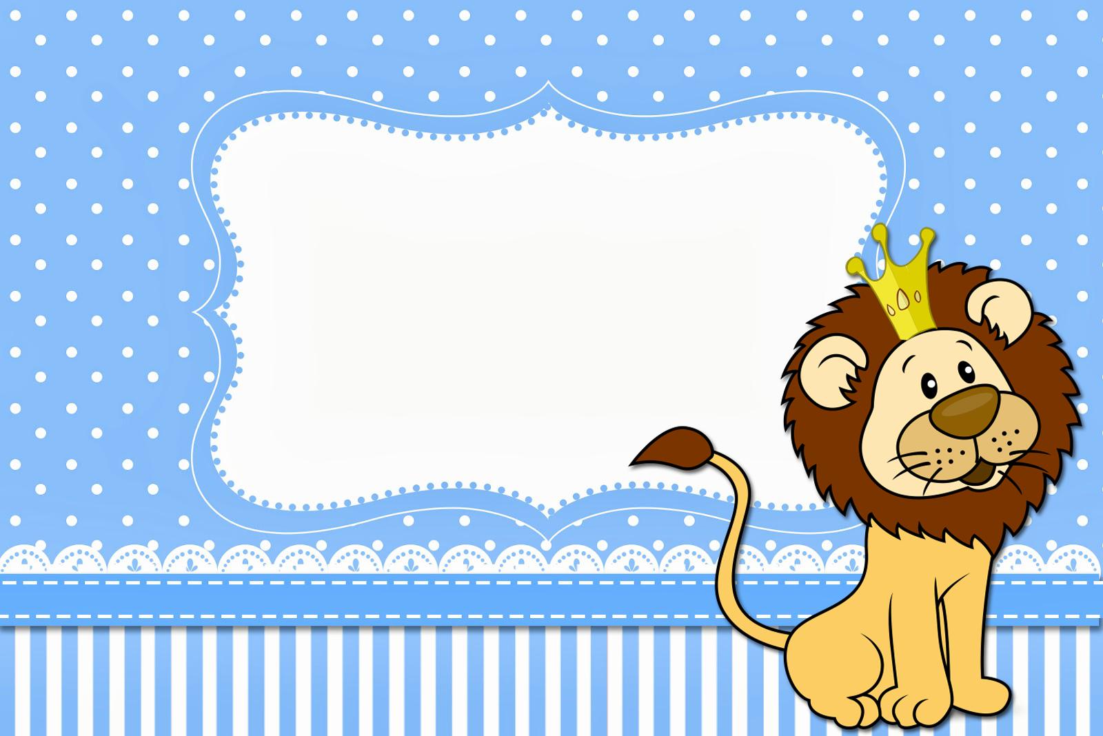 Moldura Convite e Cartão Leão Rei: