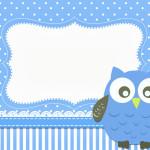 Corujinha Azul para Meninos  – Kit Completo com molduras para convites, rótulos para guloseimas, lembrancinhas e imagens!