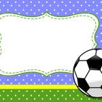 Futebol (Bola de Futebol) – Kit Completo com molduras para convites, rótulos para guloseimas, lembrancinhas e imagens!