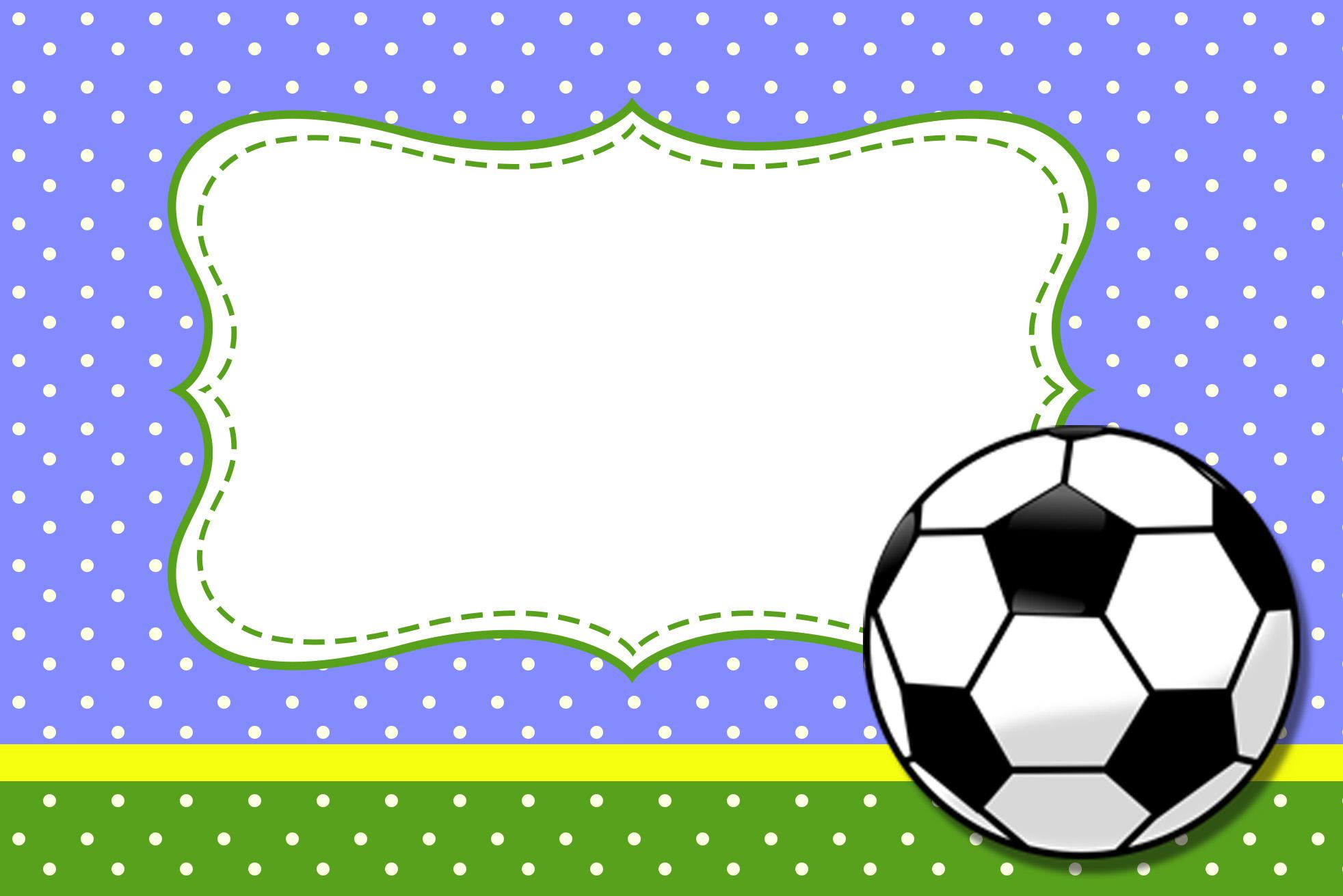 Moldura Convite e Cartão Futebol (Bola de Fubebol)  706877d23d6f0