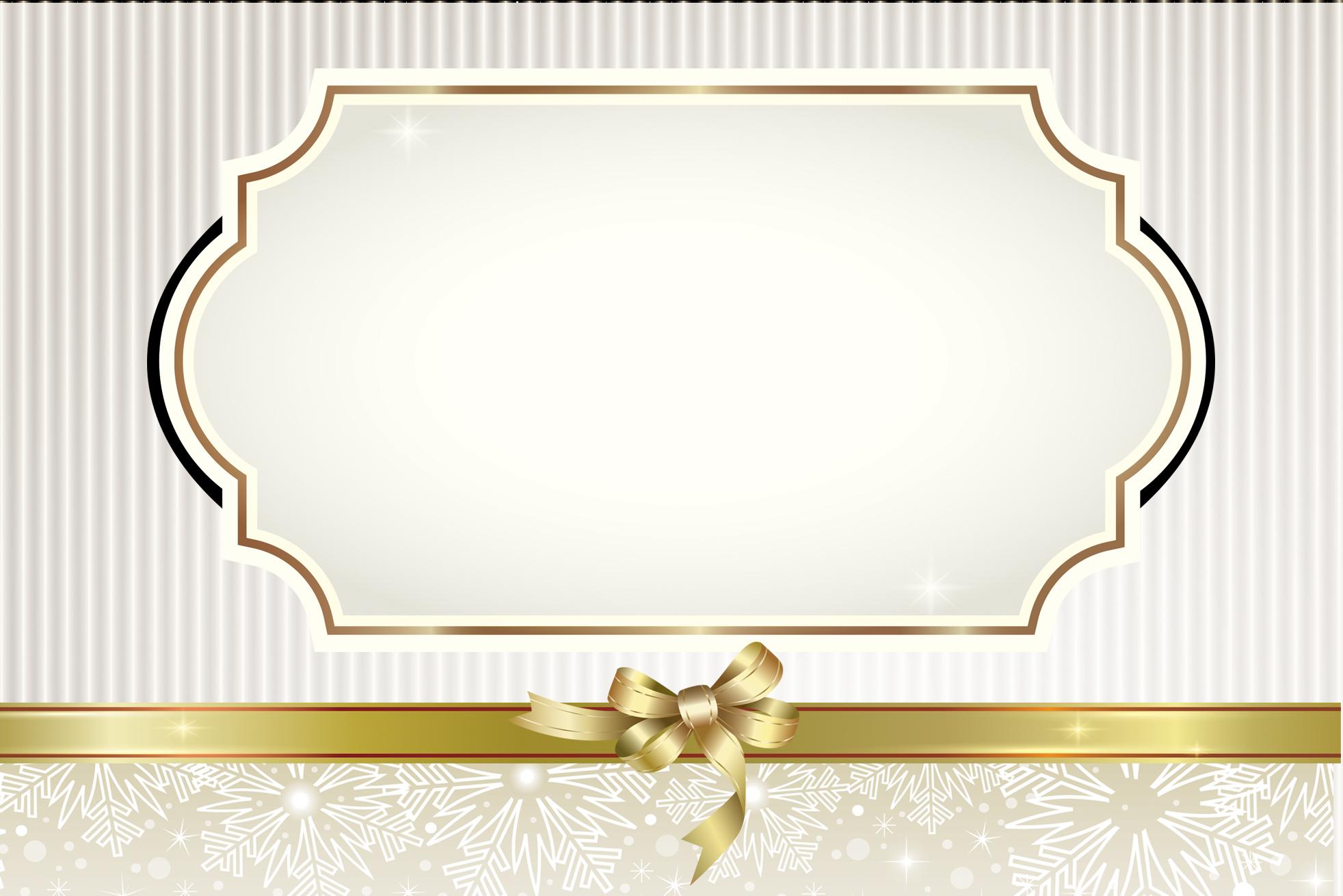 Moldura Convite e Cartão Dourado Cinza e Branco: