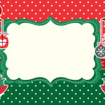 Moldura Convite e Cartão Passarinhos Natal: