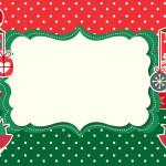 Passarinhos Natal – Mini Kit com molduras para convites, rótulos para guloseimas, lembrancinhas e imagens!
