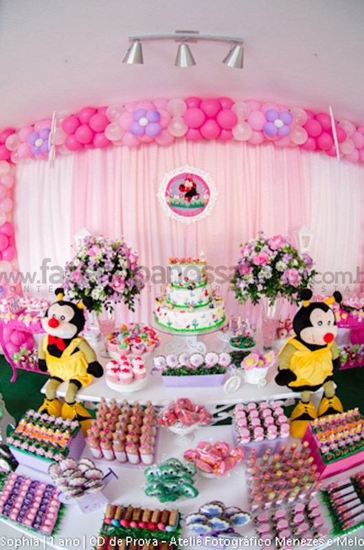 decoracao de festa infantil tema jardim:Festa tema Fazendinha Menina: