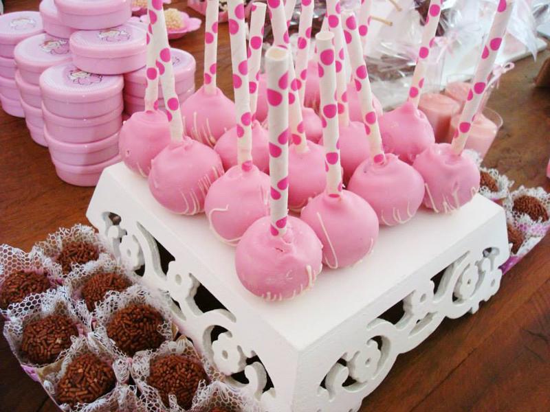 Cake Pops Batizado Menina: