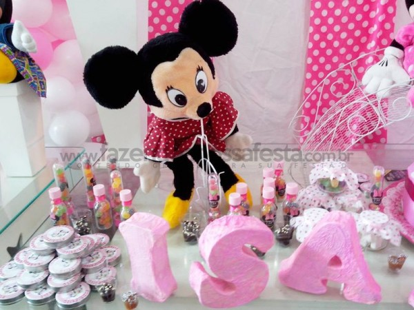 Festa tema Minnie rosa: