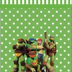 Rótulo Garrafas Tartarugas Ninjas: