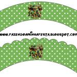 Saias Wrappers para Cupcakes Tartarugas Ninjas: