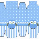 Caixa Sabonete Corujinha Azul para Menino: