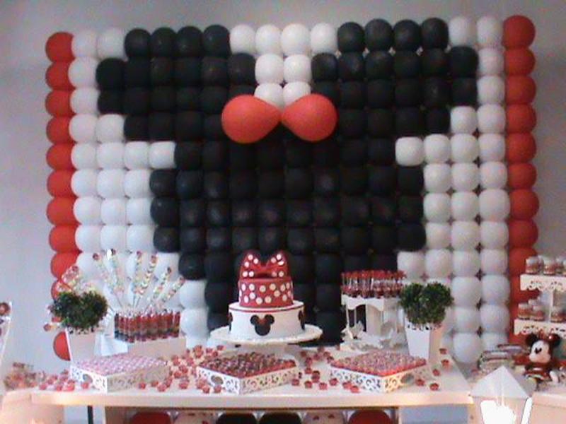 Mesa de Doces Festa Minnie Vermelha: