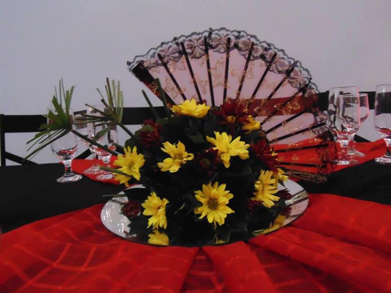 Centro de Mesa Festa Oriental 15 anos: