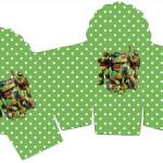 Caixa Cupcake Tartarugas Ninjas: