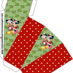 Caixa Fatia Natal Mickey e Minnie: