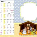 Convite Calendário 2014 Nascimento de Jesus: