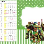 Convite Calendário 2014 Tartarugas Ninjas: