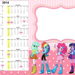Convite Calendário 2014 Equestria Girls (My Little Pony):