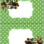 Cartão Agradecimento de Mesa Tartarugas Ninjas: