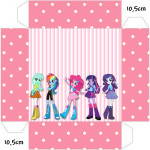 Convite Caixa Tampa Equestria Girls (My Little Pony):