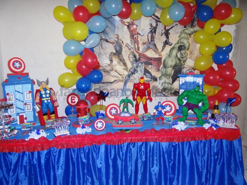 Festa tema Os Vingadores: