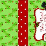 Molde Caixa Baton Papai Noel - 2016