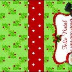 Molde Caixa Baton Papai Noel - Ano novo