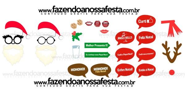 Plaquinhas Divertidas e muitos adereços no Palito para você imprimir e fazer a sua festa de Natal mais divertida!