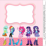 Rótulo Rolinho de Papel Higiênico  Equestria Girls (My Little Pony)