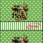 Rótulo Chiclets Adams Tartarugas Ninjas: