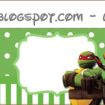 Rótulo Lápis Tartarugas Ninjas: