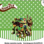 Rótulo Creminho Nucita Tartarugas Ninjas: