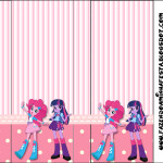 Rótulo Pirulito Mastigável  Equestria Girls (My Little Pony):
