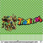Rótulo Mini Trakinas Tartarugas Ninjas: